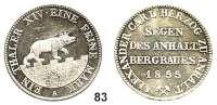 Deutsche Münzen und Medaillen,Anhalt - Bernburg Alexander Karl 1834 - 1863 Ausbeutevereinstaler 1855 A.  Kahnt 4.  Thun 3.   AKS 16.  Jg. 66.  Dav. 504.