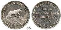 Deutsche Münzen und Medaillen,Anhalt - Bernburg Alexander Karl 1834 - 1863 Ausbeutevereinstaler 1861 A.  Kahnt 6.  Thun 6.   AKS 17.  Jg. 73.  Dav. 506.