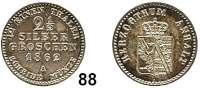 Deutsche Münzen und Medaillen,Anhalt Gemeinschaftlich 2 1/2 Silbergroschen 1862 A.  AKS 21.  Jg. 70.
