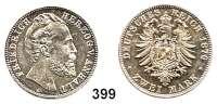 R E I C H S M Ü N Z E N,Anhalt, Herzogtum Friedrich I. 1871 - 1904 2 Mark 1876.