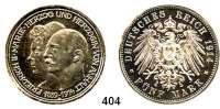 R E I C H S M Ü N Z E N,Anhalt, Herzogtum Friedrich II. 1904 - 1918 5 Mark 1914.  Silberhochzeit.