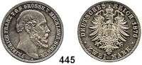 R E I C H S M Ü N Z E N,Mecklenburg - Schwerin Friedrich Franz II. 1842 - 1883 2 Mark 1876.