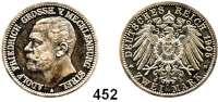 R E I C H S M Ü N Z E N,Mecklenburg - Strelitz, Großherzogtum Adolf Friedrich V. 1904 - 1914 2 Mark 1905.