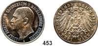 R E I C H S M Ü N Z E N,Mecklenburg - Strelitz, Großherzogtum Adolf Friedrich V. 1904 - 1914 3 Mark 1913.
