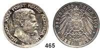 R E I C H S M Ü N Z E N,Reuss älterer Linie (Greiz) Heinrich XXIV. 1902 - 1918 3 Mark 1909.
