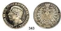 Deutsche Münzen und Medaillen,Schwarzburg - Sondershausen Günther Friedrich Karl II. 1835 - 1880 Vereinstaler 1870 A. Kahnt 542.  Thun 400.  AKS 38.  Jg. 75.  Dav. 921.