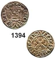 AUSLÄNDISCHE MÜNZEN,Frankreich Ludwig X. 1314 - 1316 Denier tournois o.J. (1315).  0,81 g.  Duplessy 236.  Ciani 241.