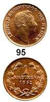 Deutsche Münzen und Medaillen,Baden - Durlach Karl Leopold Friedrich 1830 - 1852 Kreuzer 1852.  AKS 107.  Jg. 44 c..