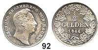 Deutsche Münzen und Medaillen,Baden - Durlach Karl Leopold Friedrich 1830 - 1852 1/2 Gulden 1844.  AKS 97.  Jg. 55..