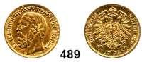 R E I C H S M Ü N Z E N,Baden, Großherzogtum Friedrich I. 1856 - 1907 10 Mark 1873.