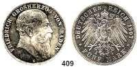 R E I C H S M Ü N Z E N,Baden, Großherzogtum Friedrich I. 1856 - 1907 5 Mark 1907.