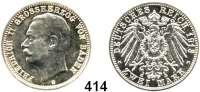 R E I C H S M Ü N Z E N,Baden, Großherzogtum Friedrich II. 1907 - 1918 2 Mark 1913.