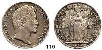 Deutsche Münzen und Medaillen,Bayern Ludwig I. 1825 - 1848 Geschichtsdoppeltaler 1845.  Ludwig Erbprinz von Bayern.  Kahnt 112.  Thun 85.  AKS 108.  Jg. 76.  Dav. 593.