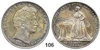 Deutsche Münzen und Medaillen,Bayern Ludwig I. 1825 - 1848 Geschichtstaler 1825.  Regierungsantritt.  Kahnt 76.  Thun 49.  AKS 112.  Jg. 31.  Dav. 555.