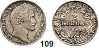Deutsche Münzen und Medaillen,Bayern Ludwig I. 1825 - 1848 1/2 Gulden 1838.  AKS 79.  Jg. 61.