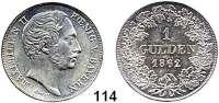 Deutsche Münzen und Medaillen,Bayern Maximilian II. 1848 - 1864 1 Gulden 1862.  AKS 151.  Jg. 82.