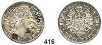 R E I C H S M Ü N Z E N,Bayern, Königreich Ludwig II. 1864 - 1886 2 Mark 1876.