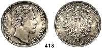 R E I C H S M Ü N Z E N,Bayern, Königreich Ludwig II. 1864 - 1886 5 Mark 1876.