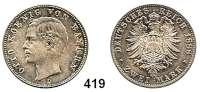 R E I C H S M Ü N Z E N,Bayern, Königreich Otto 1886 - 1913 2 Mark 1888.