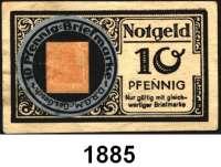 P A P I E R G E L D   -   N O T G E L D,Rheinland/Rheinprovinz Elberfeld Wagener´s Weinstuben.  10 Pfennig Briefmarkengeld (Germania). o.D.  Tieste 1645.35.01.1.