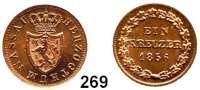 Deutsche Münzen und Medaillen,Nassau Adolf 1839 - 1866 1 Kreuzer 1856.  AKS 71.  Jg. 37 l.