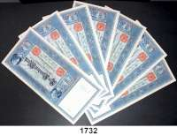 P A P I E R G E L D,K A I S E R R E I C H  100 Mark 7.2.1908.  Ros.  DEU-32.  LOT 7 Scheine.