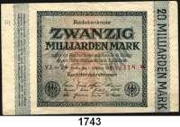 P A P I E R G E L D,Weimarer Republik  20 Milliarden Mark 1.10.1923.