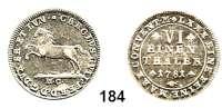 Deutsche Münzen und Medaillen,Braunschweig - Wolfenbüttel Karl Wilhelm Ferdinand 1780 - 1806 1/6 Taler 1781 M.C., Braunschweig.  5,14 g.  Welter 2916.  Schön 340.