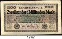 P A P I E R G E L D,Weimarer Republik  200 Milliarden Mark 15.10.1923.