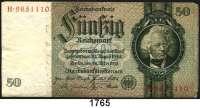 P A P I E R G E L D,R E I C H S B A N K  50 Reichsmark 30.3.1933.  Ros. DEU-210 a.  Nur Unterdruck