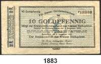 P A P I E R G E L D   -   N O T G E L D,Ost- / Westpreussen, Posen, Grenzmark Stallupönen. Kreis.  10 Goldpfennig 9.11.1923.  Müller 4730.1.  LOT 10 Scheine.
