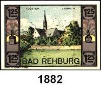 P A P I E R G E L D   -   N O T G E L D,Niedersachsen Rehburg E. Bornemann & Co. GmbH.  25(2), 50(2), 75 und 100 Pfennig; 1,25 Mark(2).  G/M 1106.1.  LOT 8 verschiedene Scheine.