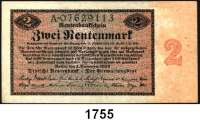 P A P I E R G E L D,R E N T E N B A N K  2 Rentenmark 1.11.1923.  Serie A.  Ros. DEU-200.
