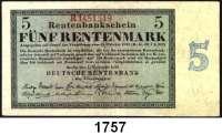 P A P I E R G E L D,R E N T E N B A N K  5 Rentenmark 1.11.1923.  KN 7-stellig.  Serie R.  Ros. DEU-201 b.