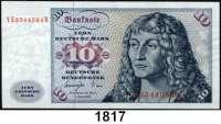 P A P I E R G E L D,BUNDESREPUBLIK DEUTSCHLAND  10 Deutsche Mark 1.6.1977.  Serie YE...B.  Austauschnote.  Ros. BRD-19 b.