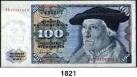 P A P I E R G E L D,BUNDESREPUBLIK DEUTSCHLAND  100 Deutsche Mark 1.6.1977.  ZE...A.  Austauschnote.  Ros. BRD-22 b.