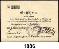 P A P I E R G E L D   -   N O T G E L D,Schlesien Bielschowitz. Gemeindekasse.  2x 0,50 und 1 Mark 12.8.1914.  Dießner 25.7 a, b.  LOT 3 Scheine.