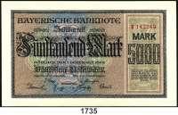 P A P I E R G E L D,Altdeutsche Staaten und Länderbanknoten BAYERN Bayerische Notenbank.  5000 Mark 1.12.1922.  20.000 Mark 1.3.1923.  500.000 Mark 18.8.1923 und 1 Million Mark 20.8.1923.  Grab.  BAY-6, 7 a, 11, 12.  LOT 4 Scheine.