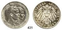 R E I C H S M Ü N Z E N,Braunschweig, Herzogtum Ernst August 1913 - 1918 5 Mark 1915.  Mit Lüneburg.