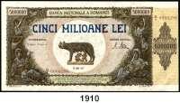 P A P I E R G E L D,AUSLÄNDISCHES  PAPIERGELD Rumänien 5 Millionen Lei 25.6.1947.  Pick 61 a.