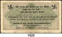 P A P I E R G E L D,Dokumente  1000 Markschein 15.9.1922 mit rückseitigem antsemitischen Überdruck der NSDAP.
