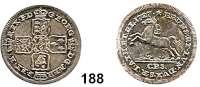 Deutsche Münzen und Medaillen,Braunschweig - Calenberg (Hannover) Georg I. Ludwig 1698 - 1727 1/6 Taler 1727 CPS, Clausthal.  3,19 g.  Welter 2258.  Schön 143.