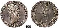Deutsche Münzen und Medaillen,Braunschweig - Calenberg (Hannover) Georg IV. 1820 - 1830 2/3 Taler 1829.  Kahnt 209 p.  AKS 39,  Jg. 24 a  Ohne Punkt über der Wertzahl und nach FUSSE.
