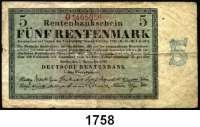 P A P I E R G E L D,R E N T E N B A N K  5 Rentenmark 1.11.1923.  KN 7-stellig.  Serie: O.  Ros. DEU-201 b.