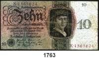 P A P I E R G E L D,R E I C H S B A N K  10 Reichsmark 11.10.1924.  KN 7-stellig.  U/X.  Ros. DEU-173 a.