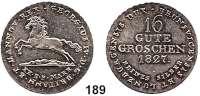 Deutsche Münzen und Medaillen,Braunschweig - Calenberg (Hannover) Georg IV. 1820 - 1830 16 Gute Groschen 1827.  Kahnt 207 m.  AKS 38.  Jg. 23 ha.  Ohne Punkt nach SILBER.