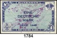 P A P I E R G E L D,BUNDESREPUBLIK DEUTSCHLAND  1 Deutsche Mark 1948.  Ros. WBZ-2.