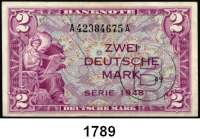 P A P I E R G E L D,BUNDESREPUBLIK DEUTSCHLAND  2 Deutsche Mark 1948.  A....A
