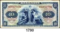 P A P I E R G E L D,BUNDESREPUBLIK DEUTSCHLAND  10 Deutsche Mark 1948.  H....H.  Ros. WBZ-5.