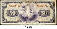 P A P I E R G E L D,BUNDESREPUBLIK DEUTSCHLAND  50 Deutsche Mark 1948.  K...J.  Ros. WBZ-7.